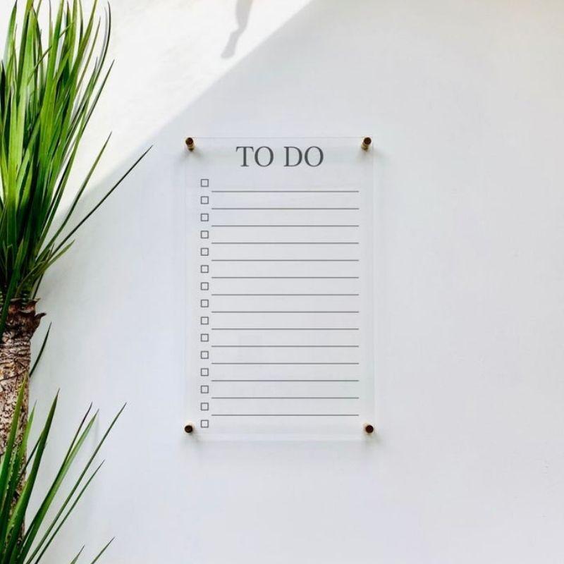 Acrylic Wall Mounted To Do List