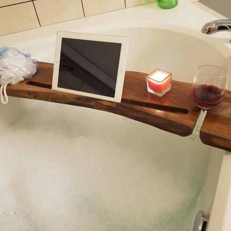 Live Edge Bath Caddy Tray