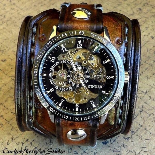 Men's Steampunk Wrist Watch