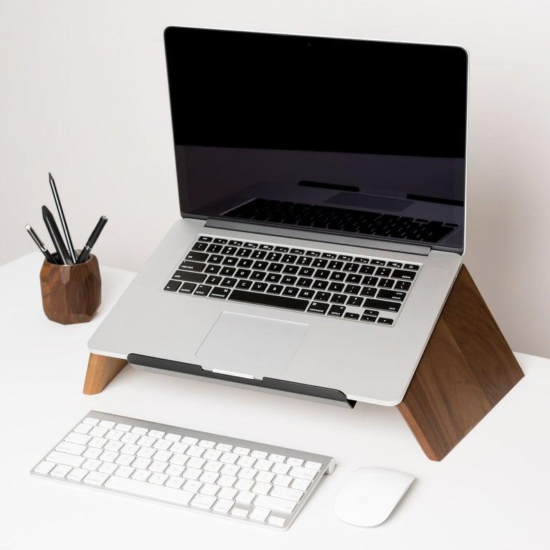 Premium Ergonomic Wooden Laptop Stand