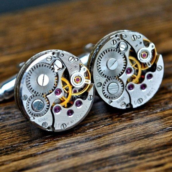 Steampunk Watch Movement 16mm Cufflinks