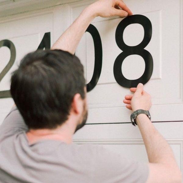 Magnetic Garage Door Numbers
