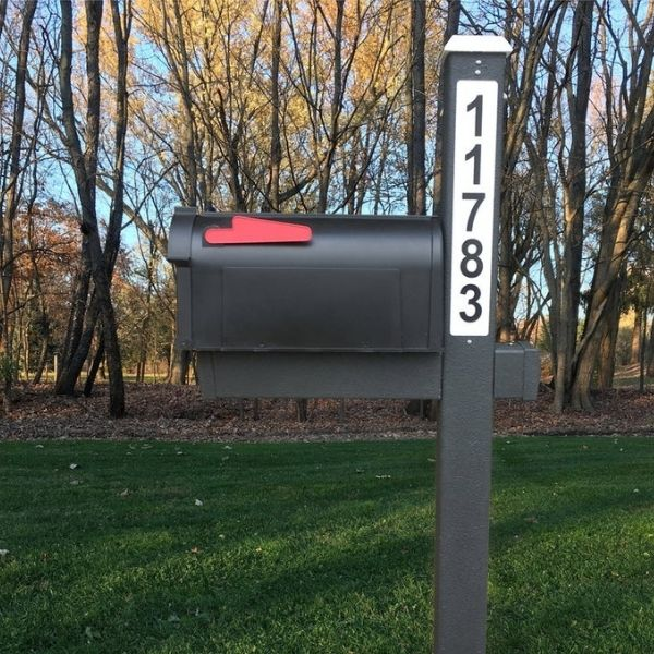 Solar LED Backlit Mailbox