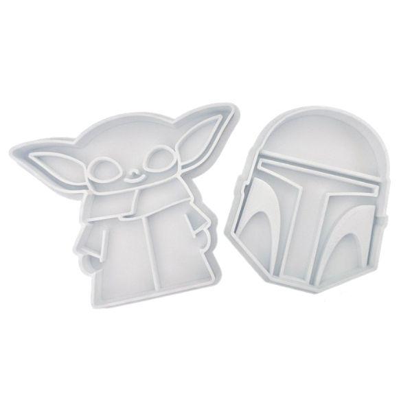 Mandalorian & Baby Yoda Cookie Cutters